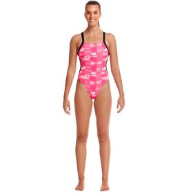 Funkita Brace Free Jednoczęściowy strój kąpielowy Kobiety, swan lake